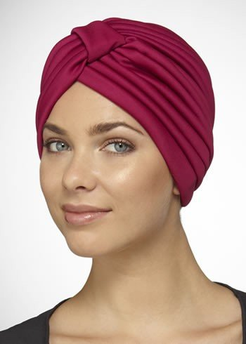 Turban - Pleated Polyester - Natural Image