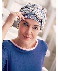 1009 Karma Printed Turban with Headband - Christine Headwear