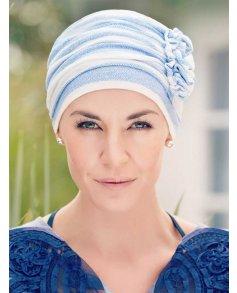 1245 Linen Ahava Printed Turban - Christine Headwear