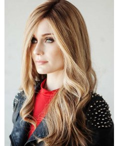 Adele Human Hair wig - Dimples Bronze Collection