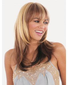 Beverley wig - Natural Image - Front View - Colour Blonde Chocolate