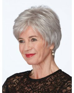 Iconic wig - Natural Image - Front View - Colour Silver Mist