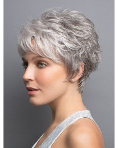 Rina wig - Rene of Paris Hi-Fashion - Front View in colour Silver Stone