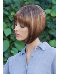 Sadie wig - Amore Rene of Paris - Front View in colour Maple Sugar