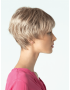 Rosie wig - Amore Rene of Paris - Side View shown in colour Frosti Blonde