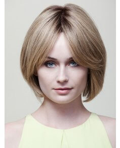 Ashley Petite Human Hair wig - Dimples Bronze Collection