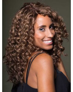 Amber Petite Human Hair wig Gem Collection - Curly - Side View