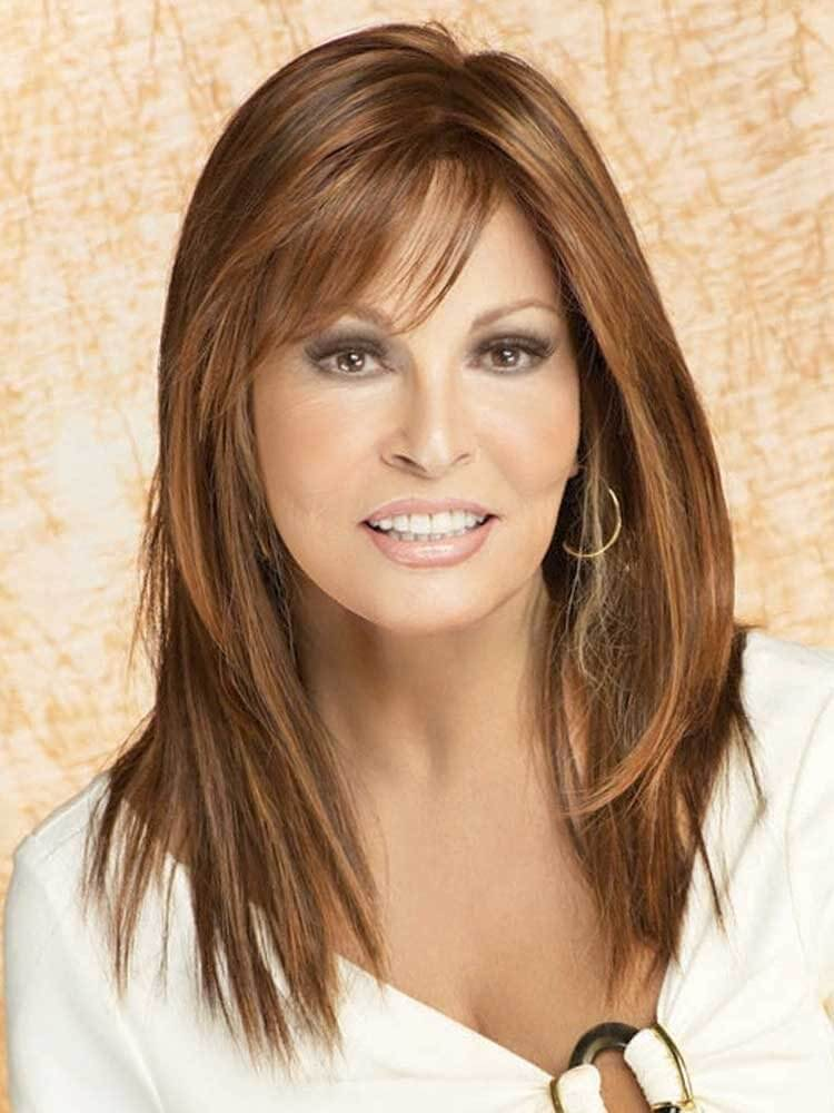 Show Stopper wig - Raquel Welch - Front View - Colour Cinnabar
