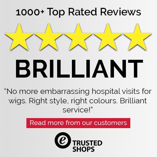 Trusted Shops Customer 5 Star Review for Joseph's Wigs' Human Hair Wigs