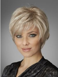 Bliss wig - Inspired Collection - Front View - Platinum Mist