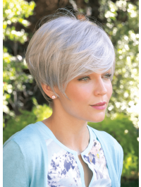 Tiana XO wig - Amore Collection - Front View shown in colour Silver Mink