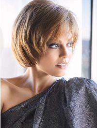 Shannon wig - Rene of Paris Hi-Fashion - Front View - Colour Light Chocolate