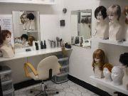 Private consultation room at Joseph's Wigs shop