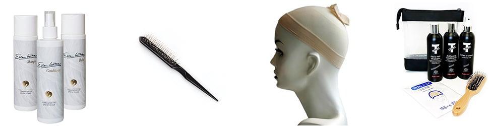 Wig care accessories at Joseph's Wigs